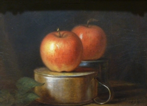 Fruit Piece: Apples on Tin Cups, 1864