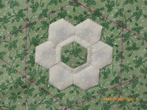 Quilting hexie flower