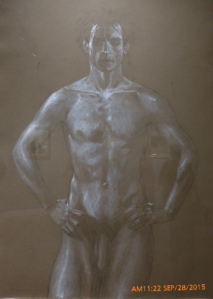 Nude, Three-Quarter Figure, Nuryev (Study #18), 1977