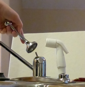 Removing faucet handle