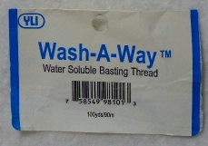Wash-A-Way Thread
