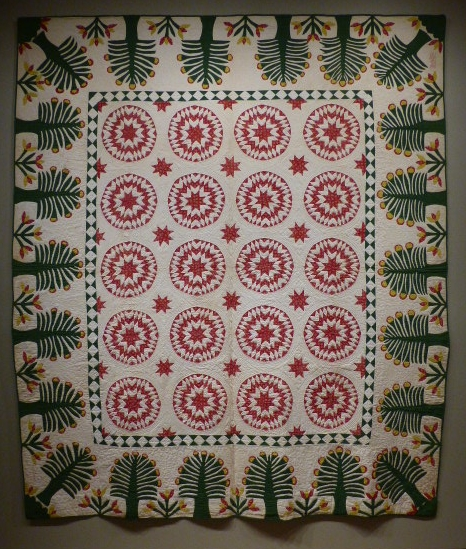 Rising Star Variation Quilt, Elsey A Halstead, 1848