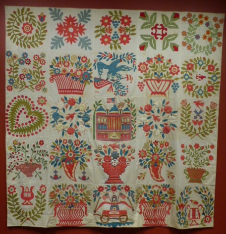 Baltimore-Style Album Quilt Top, Artist Unidentified, 1845-1850