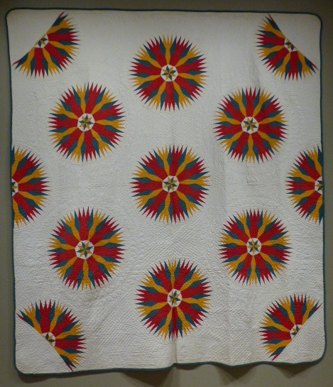 Slashed Star Quilt, 1872, Sara Maartz