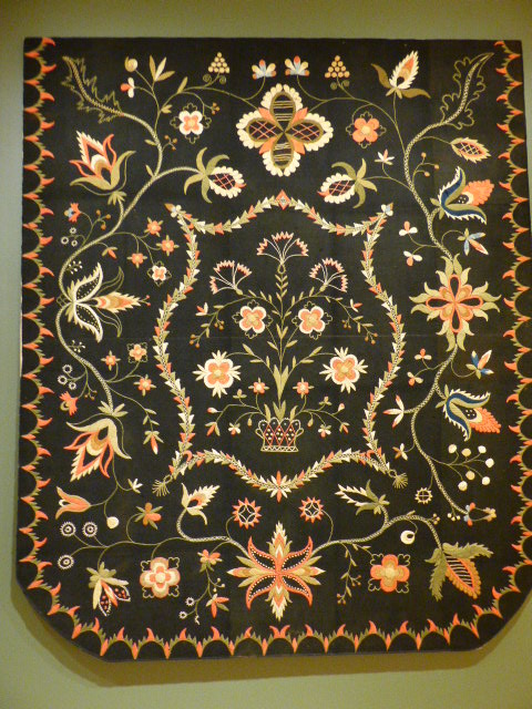 Crewel Bedcover, 1815-1825, Artist Unidentified