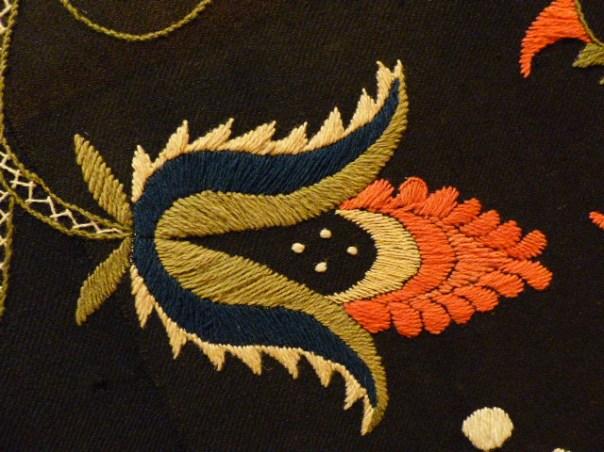 Crewel Bedcover, detail