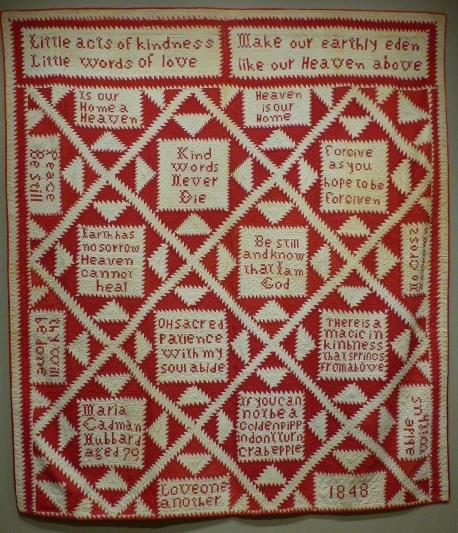 Pieties Quilt, Maria Cadman Hubbard, 1848