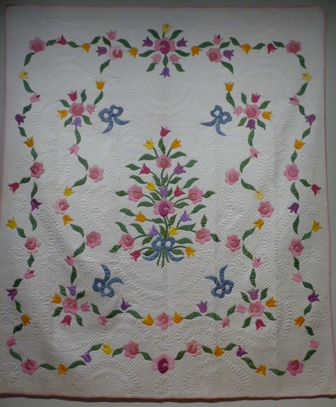 Tulip and Rose Bouquet Quilt, Elizabeth Schumacher Leece