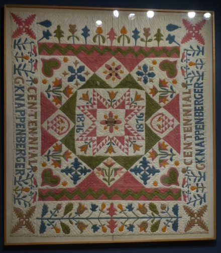 Centennial Quilt, possibly Gertrde Knappenberger