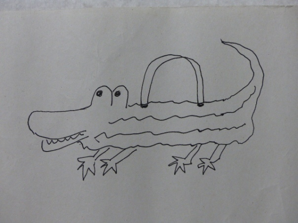Day 3 - Nursery rhyme or song - Alligator Purse