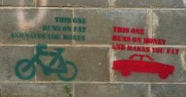 Stencilled message